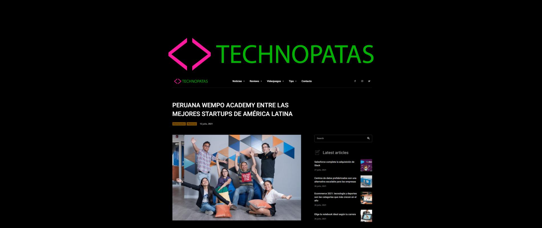 Wempo Academy entre las mejores Startups de América Latina